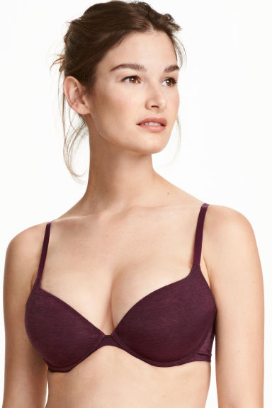 Microfibre push-up bra - Plum - Ladies | H&M CN