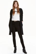 Hooded cardigan - Black - Ladies | H&M CN 1