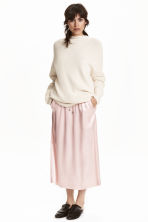 Satin skirt - Light pink - Ladies | H&M GB 1