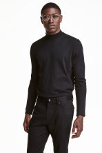 Long-sleeved T-shirt - Black - Men | H&M CN 1
