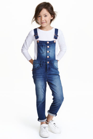 Salopette Super Soft in denim - Blu denim - BAMBINO | H&M IT 1
