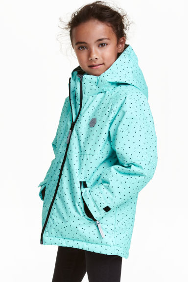 Padded winter jacket - Mint green/Spotted - Kids | H&M CN