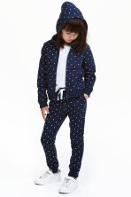 Joggers - Dark blue/Spotted - Kids | H&M CN 1