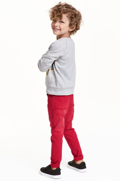 Stretch trousers - Red - Kids | H&M CN