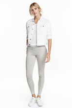Lyocell leggings - Light grey marl - Ladies | H&M CN 1
