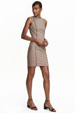 Fitted dress - Beige/Checked - Ladies | H&M CN 1