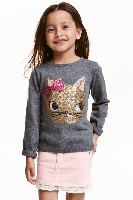 Jumper with sequins