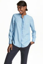 Lyocell blouse - Light denim blue - Ladies | H&M GB 1