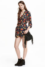 Playsuit - Donkerblauw/rozen - DAMES | H&M BE 1