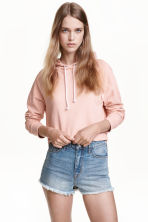 短版連帽上衣 - Powder pink - Ladies | H&M 2