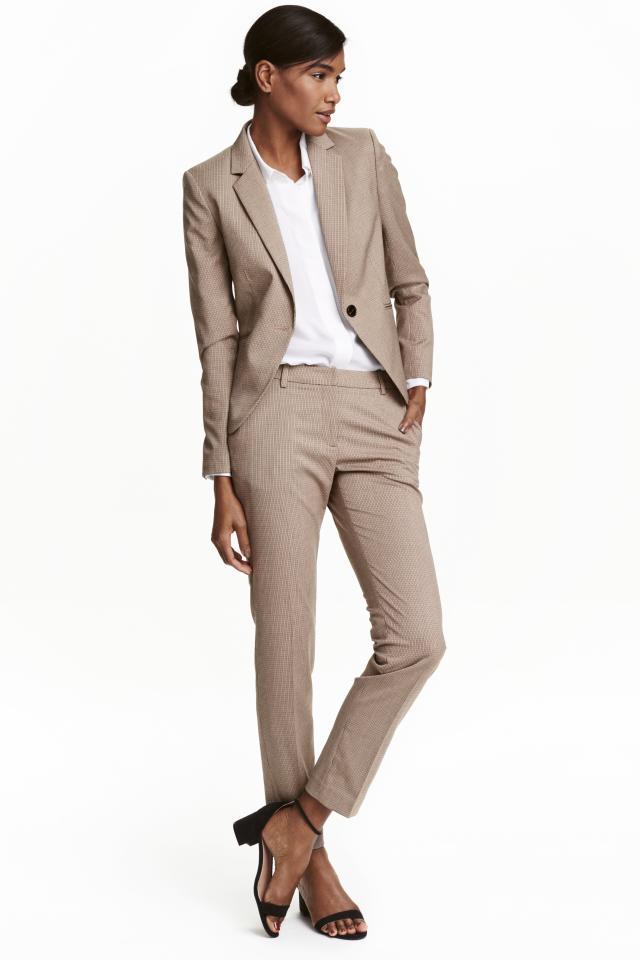 Suit trousers - Light grey marl - Ladies | H&M GB