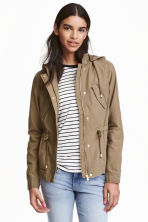 Cotton parka - Khaki green -  | H&M CN 1