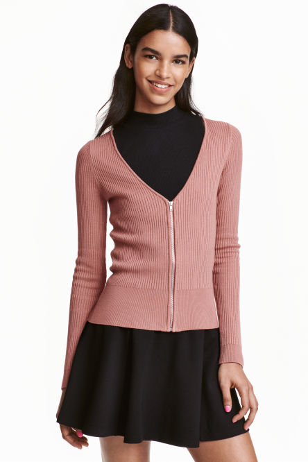 Cardigan with a zip