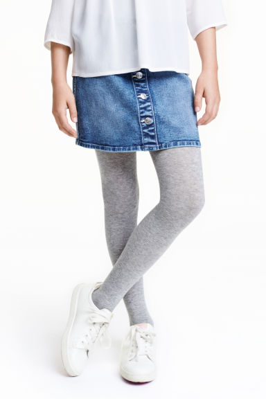 2-pack tights - Light grey - Kids | H&M CN 1