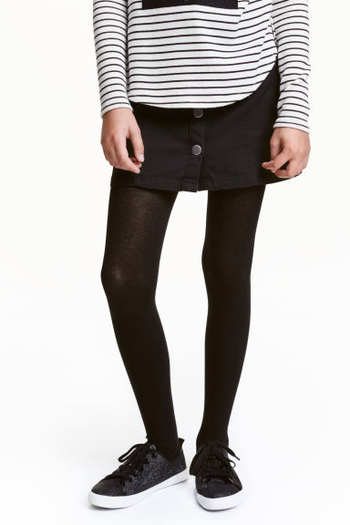 Lot de 2 collants - Noir - ENFANT | H&M FR