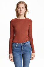 Fine-knit jumper - Rust - Ladies | H&M CN 1