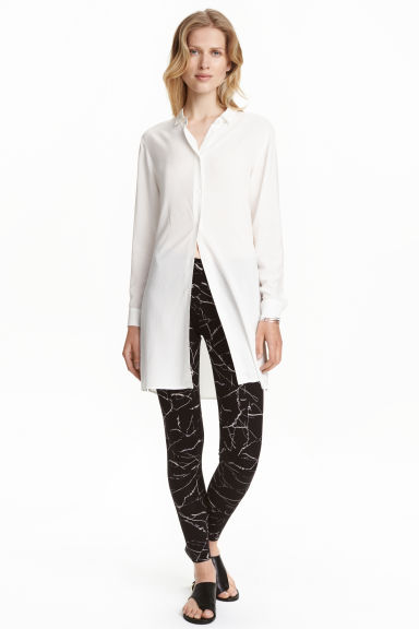 Jersey leggings - Black/Marble - Ladies | H&M CN 1