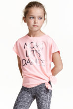 Sports top - Light pink -  | H&M CN 1