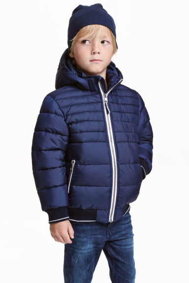 Padded jacket - Dark blue - Kids | H&M CN 1
