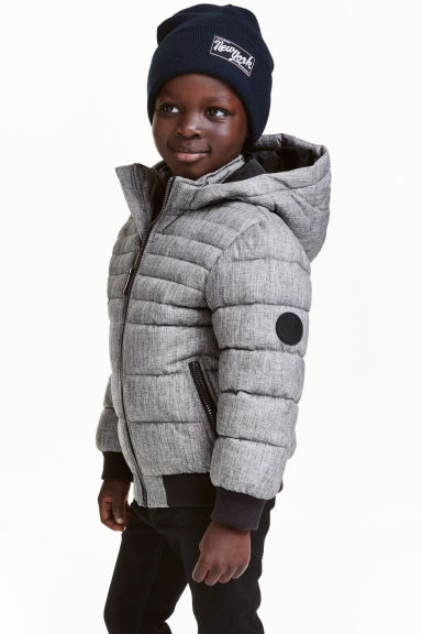 Padded jacket - Grey marl - Kids | H&M CN 1