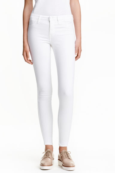 Skinny Regular Ankle Jeans - White - Ladies | H&M CN 1