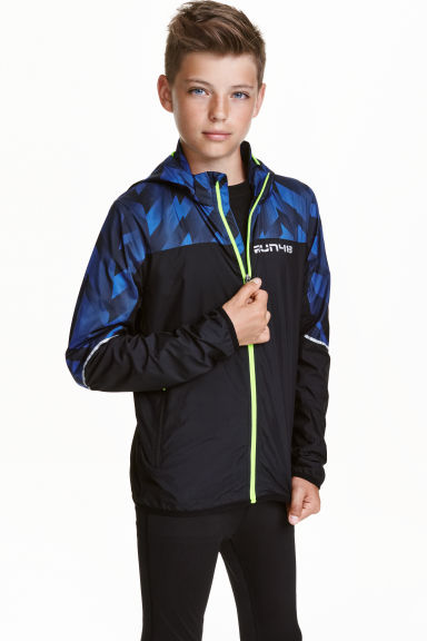 Windproof jacket with a hood - Black - Kids | H&M CN