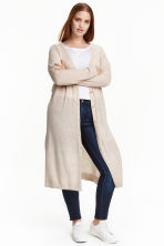 H&M+ Long cardigan - Light beige marl -  | H&M CN 1