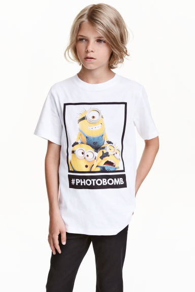 Printed T-shirt - White/Minions - Kids | H&M CN 1