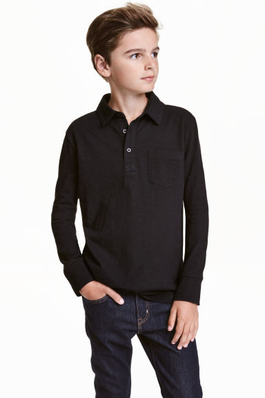 Long-sleeved polo shirt Model