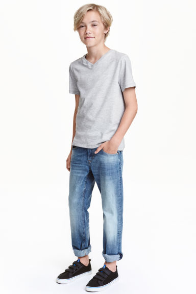 Relaxed Trashed Jeans - Light denim blue - Kids | H&M CN 1