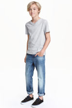 Relaxed Trashed Jeans - Bleu denim clair - ENFANT | H&M CH 1