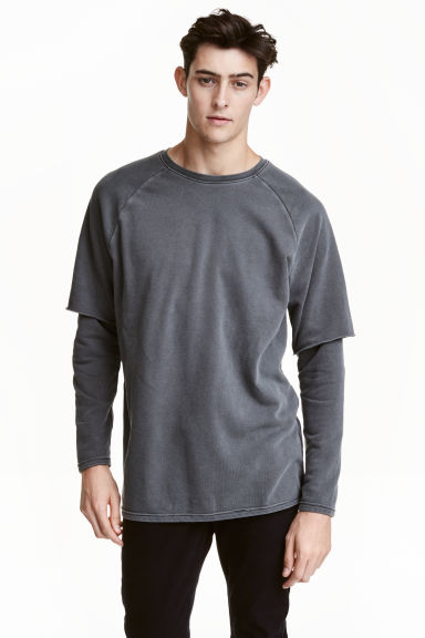 Sweatshirt - Dark grey - Men | H&M CN 1