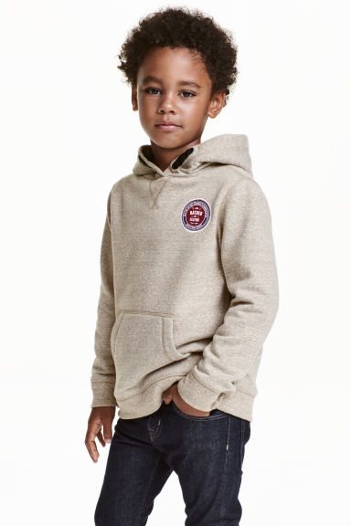 Hooded top - Beige marl - Kids | H&M CN 1