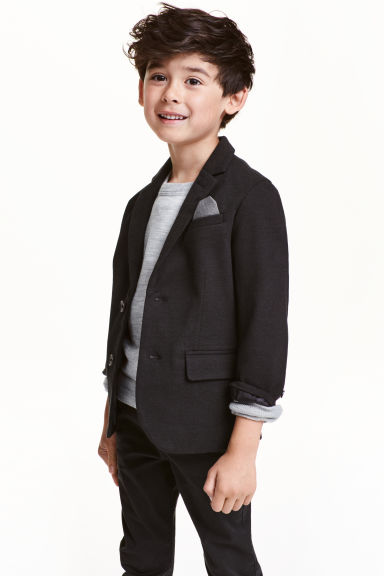 Piqué jacket - Black - Kids | H&M CN 1