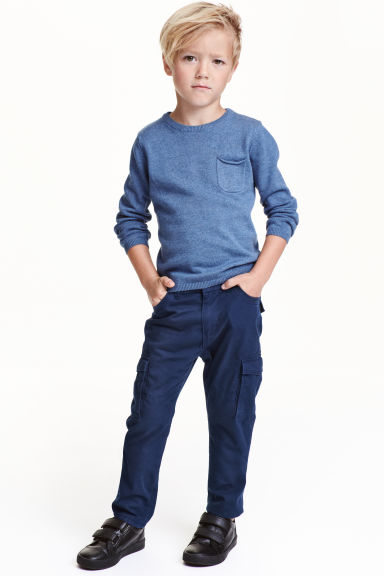 Lined cargo pants - Dark blue - Kids | H&M CN 1