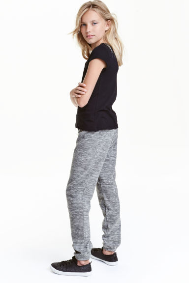 Fleece trousers - Dark grey marl - Kids | H&M CN 1