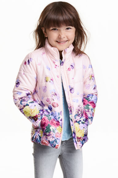 Lightweight jacket - Light pink/Floral -  | H&M CN 1