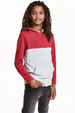 Hooded top - Red -  | H&M CN 1