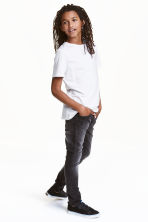 Skinny Fit Jeans - Dark grey washed out - Kids | H&M CN 1
