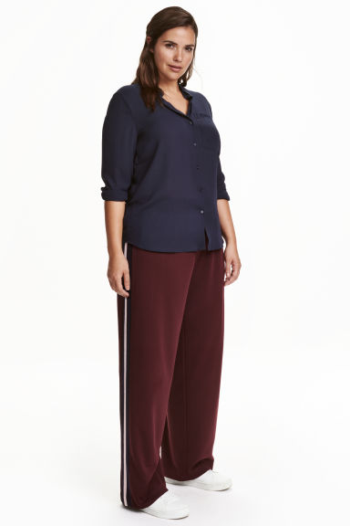 H&M+  Pantaloni ampi - Bordeaux - DONNA | H&M IT 1