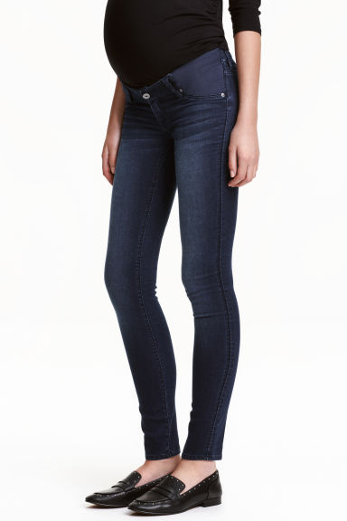 MAMA Super Skinny Low Jeans - 牛仔蓝黑 - 女士 | H&M CN 1