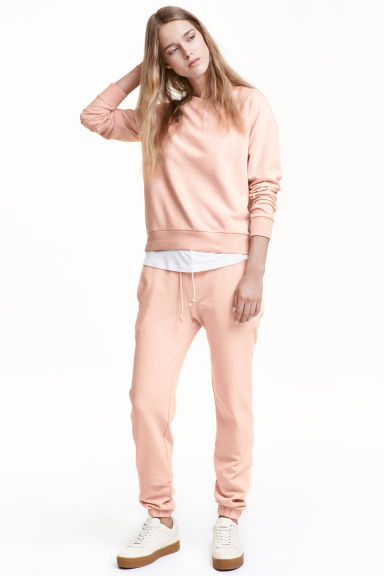 Pantalon molleton Skinny fit - Rose poudré -  | H&M FR 1