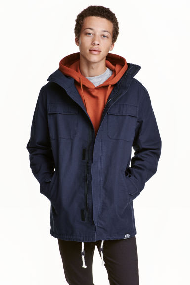 Parka with a hood Model