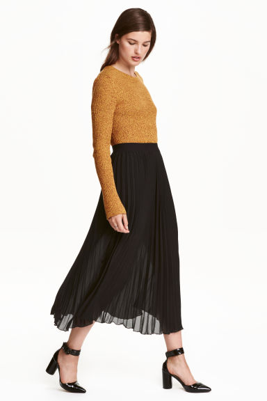 Pleated skirt - Black - Ladies | H&M CN 1
