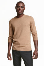 Merino wool jumper - Camel - Men | H&M CN 1