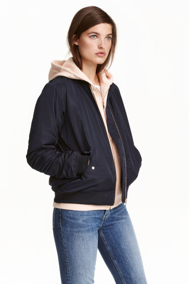 Oversized bomber jacket - Dark blue -  | H&M GB