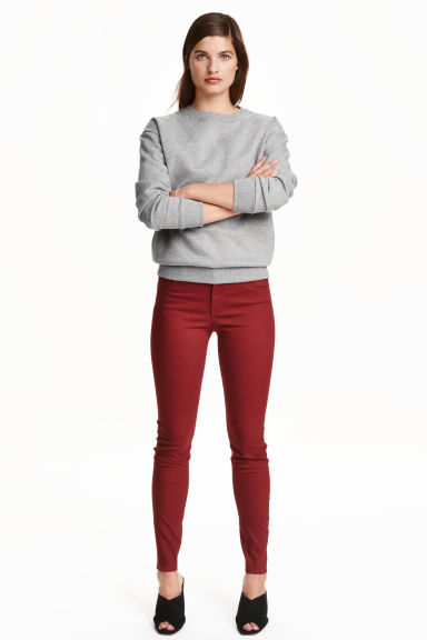 Superstretch trousers - Dark red - Ladies | H&M CN 1