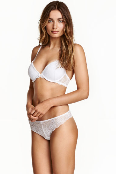 Lace half-string briefs - White - Ladies | H&M CN 1