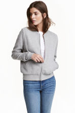 Sweatshirt jacket - Grey marl - Ladies | H&M 2