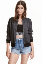 Sweatshirt jacket - Black marl - Ladies | H&M CN 1